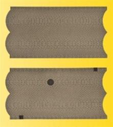 VOL/H0 Straßenplatte Kopfsteinpflaster, 3 Stück, 15 x 8 cm