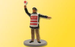 H0 Polizist mit  beleucheter Kelle