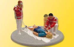 H0 Rettungssanitäter im Einsatz