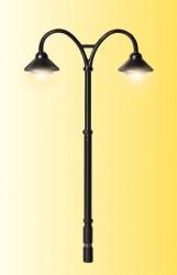 H0 Bahnsteigleuchte Baden-Baden doppelt, LED warmweiß