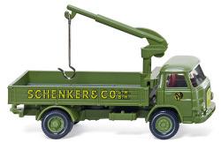 """Pritschen-Lkw mit Ladekran (MAN 415) """"Schenker"""""""
