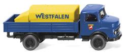 """Pritschen-Lkw mit Aufsatztank (MB) """"Westfalen"""""""
