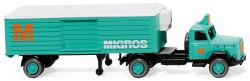 Refrigerated semi-trailer (Magirus) Migros
