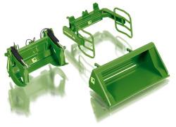 Frontlader Werkzeuge Set A - John Deere grün