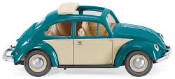 VW Käfer 1200 mit Faltdach - türkis/elfenbeinbeige