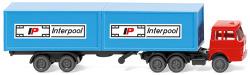 Container tractor-trailer (Henschel) Interpool