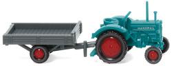 Hanomag R 16 mit Anhänger - wasserblau/grau