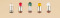 Auhagen 54735 1 Lampe m. Stecks. klar lose