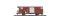 Bemo 2250254 $ $ MGB Gbv 4444 ged. Güterwagen Gbv 4444 rot MGB