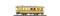 """Bemo 3233160 RhB BC 110 """"Il Mesolcines"""" gelb, historischer Zweiachser"""