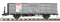 Bemo 9455137 RhB Fb 8517 Stahlwand-Hochbordwagen grau