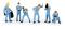 Brekina 10502 Figurenset Boxencrew hellblaues Team von Noch