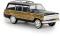 Brekina 19855 Jeep Wagoneer, schwarz woody, TD
