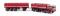 Brekina 58407 Fiat 690 Millepiedi karminrot/schwarz von Starline