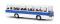 Brekina 59655 Ikarus 255 Reisebus, weiß/enzianblau, TD