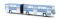 Brekina 59702 Ikarus 280 Gelenkbus, blau-weiß, TD