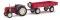 Busch 210006900 Traktor Famulus m.Anhäng.rot