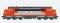 ESU 30220 Diesellok, I, Nohab, Strabag Santa Fe MY 1125, Ep. VI, orange/silber/gelb, Vorbildzustand 2008, LokSound, Rauch