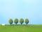 Heki 1033 4 Alleebäume hellgrün 4,5 cm