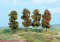 Heki 2002 4 Herbstbäume 11 cm