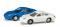 Herpa 065122-002 Porsche 911 2er Set 1:160, blau / weiß
