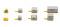 Herpa 520638 Flughafenzubehör: Container-Fahrzeuge neu (2x 2 Zugmaschinen, 2x 6 Container)