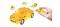 Herpa 80657075 3D Mini Cooper transp. gelb
