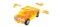 Herpa 80657101 3D Hummer H2 transp. orange
