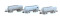 Lemke H23480 3tlg. Set Kesselwagen Uacs SBB Cargo 2x Typ A/1x B