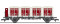 Liliput 235140 Behältertragwagen BTms 55 mit 4 BehälternEkrt 231, DB, Ep.III