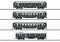 Märklin 41354 Schnellzugwagen-Set, 4 Wagen, Pfalz, Ep. I