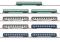 Märklin 87408 Wagendisplay Schnellzugwagen 9 Reisezugwagen, DB, SNCF, SBB