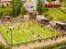 Noch 66830 Fußballplatz mit Vereinsheim, micro-sound Tribüne und Flutlicht