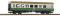 Piko 37654 G Rekowg 2. Kl. grün/beige m. Gepäckabteil