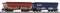 Piko 47031 TT-Schüttgutwagen Falns OnRail VI 2-er Set, Graffiti, gealtert