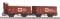 Piko 58366 2er Set Güterwagen Fortschritt DR III