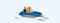 Preiser 10682 Familie im Tretboot (1)