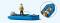 Preiser 10687 Angler im Schlauchboot