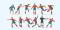 Preiser 10760 Fussballmannschaft.Rote Trikots, blaue Hosen