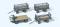 Preiser 17126 Elektrokarre für stehendes Fahren mit 3 Anhängern