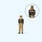 Preiser 28199 Polizeibeamtin. Deutschland