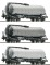 ROCO 37619 Set: Knickkesselwagen 3-tlg.