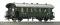 ROCO 64561 Personenwagen 2a. braungrün