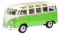 Schuco 450028600 VW T1 Samba, grün-weiss 1:18