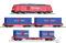 """Tillig 01445 Einsteiger-Set: Güterzug der DB AG bestehend aus Diesellokomotive """"TRAXX"""", zwei Flachwagen mit Beladung und einem Containertragwagen mit Beladung, Ep. VI"""