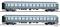 """Tillig 01761 Reisezugwagenset """"RTC-Militärzug 2"""" der DB, bestehend aus zwei Reisezugwagen, Ep. III"""