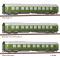 """Tillig 01778 Reisezugwagenset """"Salonwagenzug 2"""" der DR, bestehend aus Salonwagen A, Beiwagen zu Salonwagen A und Salon-Schlafwagen, Ep. IV -FORMNEUHEIT-"""