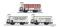 Tillig 01789 Güterwagenset der K.P.E.V., bestehend aus drei Kühlwagen, Ep. I