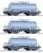 Tillig 01792 Güterwagenset der DR, bestehend aus drei Kesselwagen ZZh, vermietet an VEB Hydrierwerk Zeitz, Ep. IV