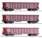 Tillig 01795 Güterwagenset der DB, bestehend aus drei Rolldachwagen Tamns 893, Ep. IV